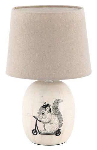 Beżowa Ceramiczna Lampka Nocna Vintage Rabalux 4604 Dorka Lampa Stołowa