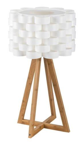 Lampa stołowa nocna Rabalux 4345 Andy Biała styl Skandynawski